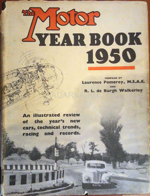 "The Motor yearbook 1950 Британский ежегодник автомобилизма журнала ""The motor"""