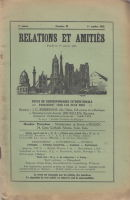 Relations et amities №28 1929